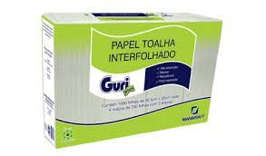 Papel Toalha Inter.Guri 2D 20x22 Cm C/ 1.000 Fls