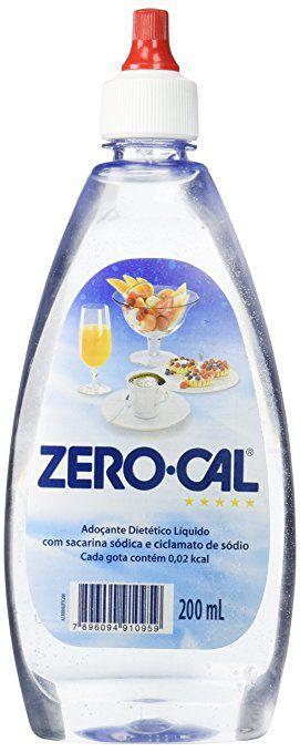 Adoçante liquido Zero Cal C/ 200 Ml