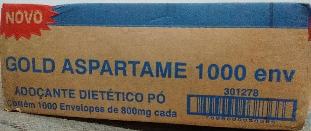 Adoçante em Sache Gold Aspartame Cx C/ 1.000 Un.