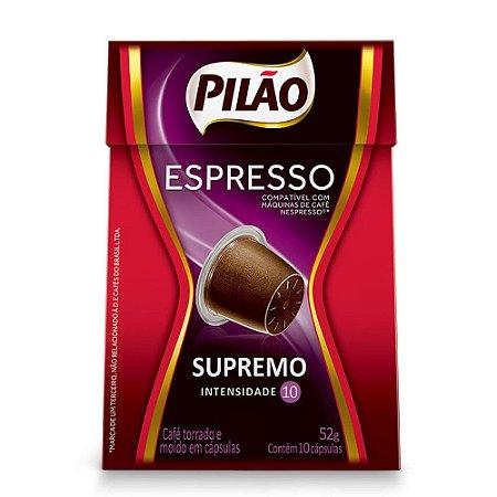 Cafe Espresso Pilão Supremo Cx C/ 10 Capsulas