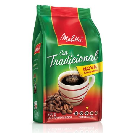 Cafe Melitta Tradicional Pouch C/ 500 Gramas
