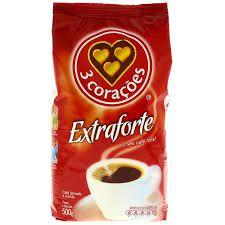 Cafe 3 Corações Extra Forte Pouch C/ 500 Gramas