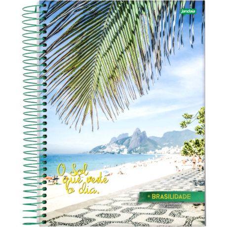 Caderno Espiral Brasilidade 20x27,5 Cm Jandaia C/ 200 Folhas
