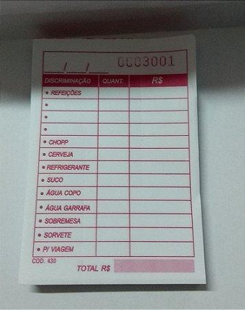 Comanda Discriminada 10 Blocos C/ 100 Fls