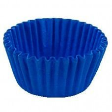 Forma P/ Mini Cupcake Azul Royal Mago C/ 45 Un.
