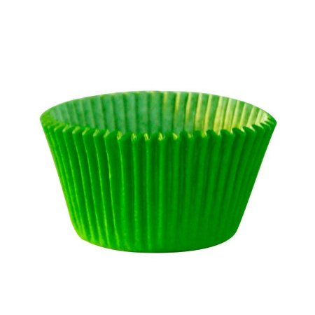 Forma P/ Mini Cupcake Verde Limão Mago C/ 45 Un.