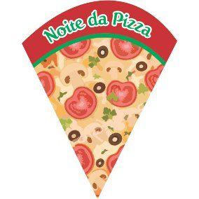 Convite Noite da Pizza C/ 8 Un.