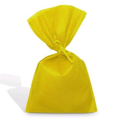 Saco Tnt Amarelo 27X40Cm Liso C/ Laço Interfitas Un.