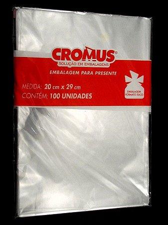 Saco Celofane Incolor 20x29Cm Cromus C/ 100 Un.