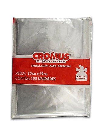 Saco Celofane Incolor 10x14Cm Cromus C/ 100 Un.