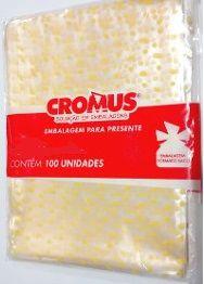 Saco Celofane Estampado 15x22Cm Cromus C/ 100 Un.