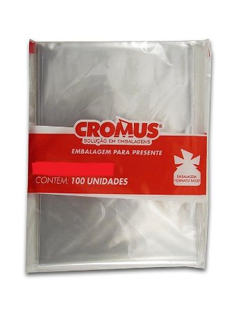 Saco Celofane Incolor 15x29Cm Cromus C/ 100 Un.