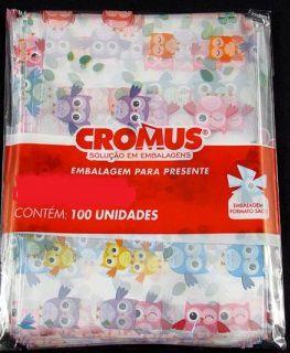 Saco Celofane Estampado 15x29Cm Cromus C/ 100 Un.