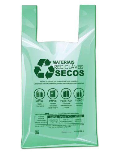 Sacola Oxibio Verde 48x55 Fd C/ 500 Un.
