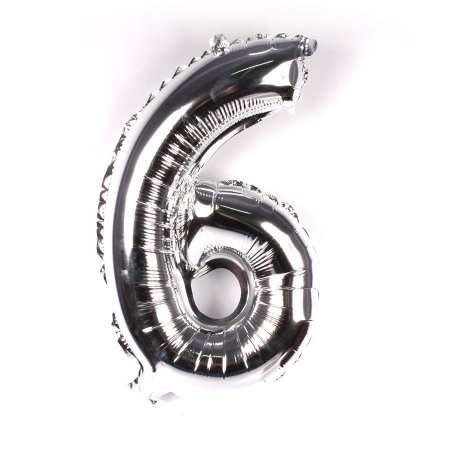 Balão Laminado Nº 6 Prata C/ 40 Cm