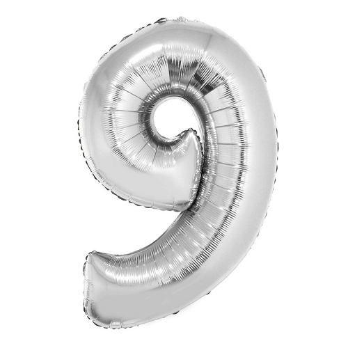 Balão Nº 9 Metalizado Prata Un.