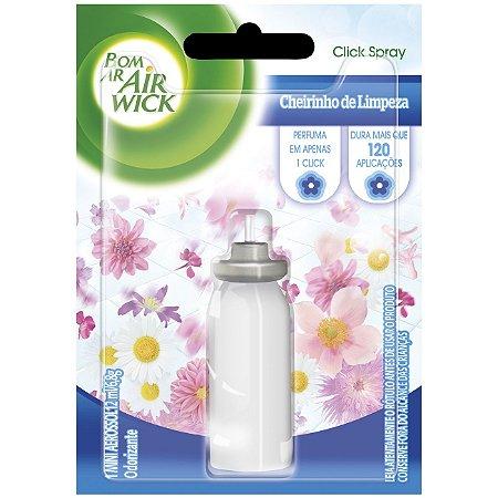 Odorizante Bom Ar click Cheiro Limpeza Refil C/ 12Ml
