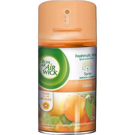 Odorizante Bom Ar Fresh Matic Citrus Refil C/ 250Ml