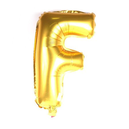 Balão Laminado Letra ''F'' Dourado C/ 70 Cm