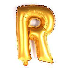 Balão Laminado Letra ''R'' Dourado C/ 70 Cm
