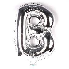 Balão Laminado Letra ''B'' Prata C/ 40 Cm