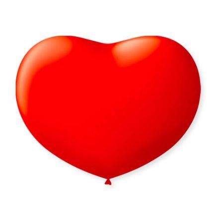 Balão Coração Vermelho 11.0 São Roque C/ 20 Un.
