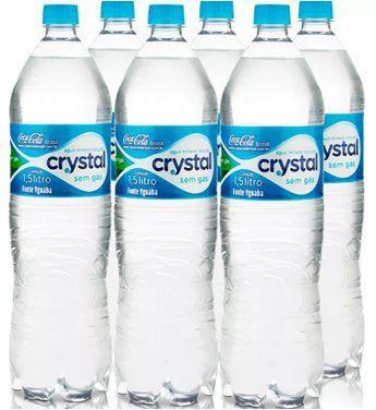 Agua Mineral S/Gas 1,5 LT. Crystal FD C/ 06 Un.