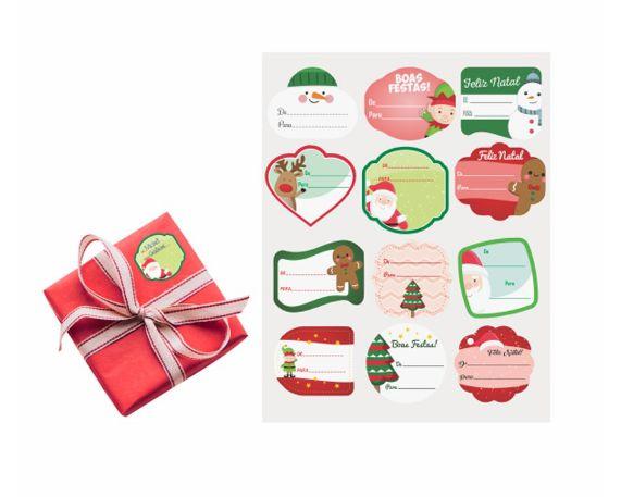 Etiquetas Decorativas De Para Natal C/ 24 Un.
