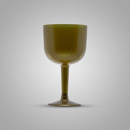 Taça Em Acrilico 500 Ml Gin Dourada Plastilania C/ 4 Un.