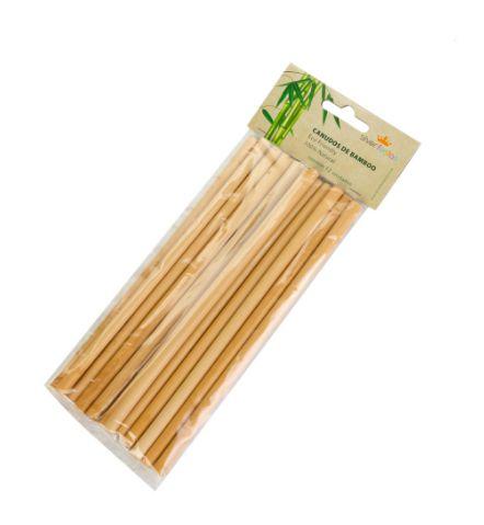 Canudo De Bambu Ecológico C/ 12 Un.