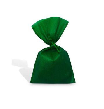 Saco Tnt Verde Escuro 19X50Cm Liso C/ Laço Interfitas Un.