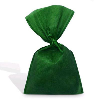 Saco Tnt Verde 33X55Cm Liso C/ Laço Interfitas Un.