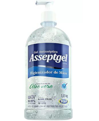 Álcool Gel Antisséptico 70% Asseptgel C/ 1 Kg