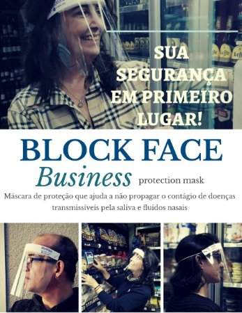 KIT 2 MASCARAS PROTETOR FACIAL BLOCK FACE