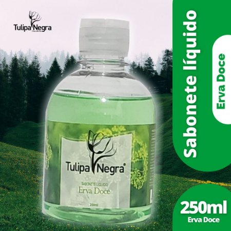 SABONETE LIQUIDO TULIPA NEGRA ERVA DOCE 250 ML