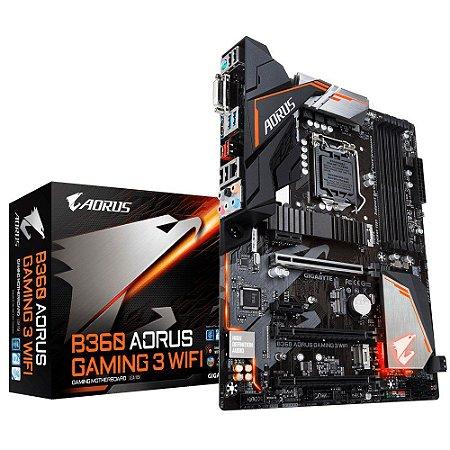 PLACA MÃE GIGABYTE B360 AORUS GAMING 3 WIFI DDR4 LGA1151
