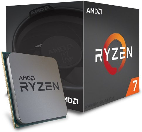 PROCESSADOR AMD RYZEN R7 1700 3.7GHZ 20MB CACHE AM4