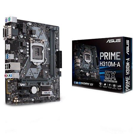 PLACA MÃE ASUS PRIME H310M-A DDR4 LGA1151