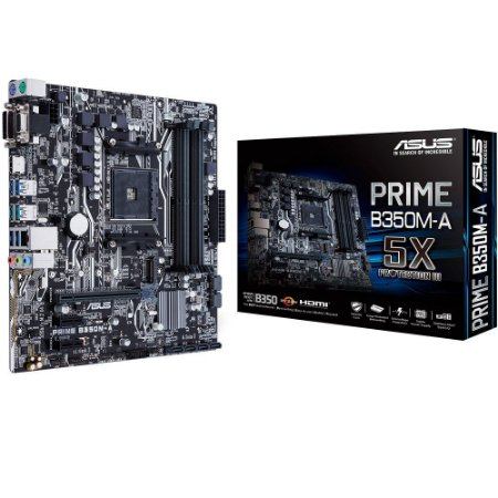 PLACA MÃE ASUS PRIME B350M-A DDR4 AM4