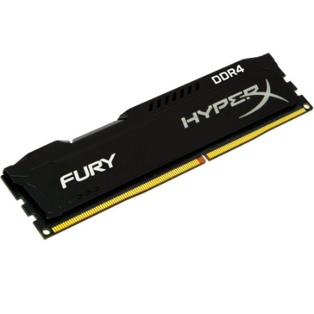 MEMÓRIA KINGSTON HYPERX FURY 8GB 2400MHz DDR4 CL15 Black Series - HX424C15FB2/8
