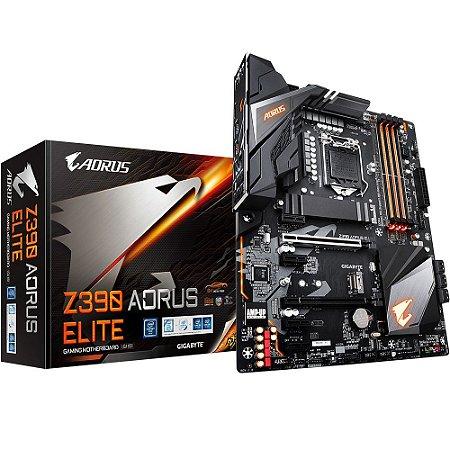 PLACA MÃE GIGABYTE Z390 AORUS ELITE DDR4 LGA 1151