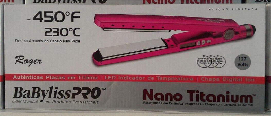 889c71f76 Pranchas Babyliss Pro Nano Titanium Original Roger 1 1/4 - Vários Modelos  110 e