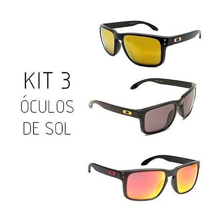 KIT 3 ÓCULOS DE SOL OAKLEY  HOLBROOK