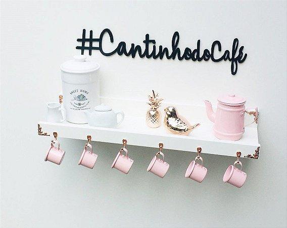 Cantinho do café  branco rose gold + letterig