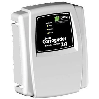 CARREGADOR FLUTUADOR ELETRONICO 2A C/ TIMER IPEC