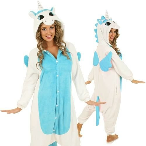 Pijama Kigurumi de Unicórnio Alado - Três Cores