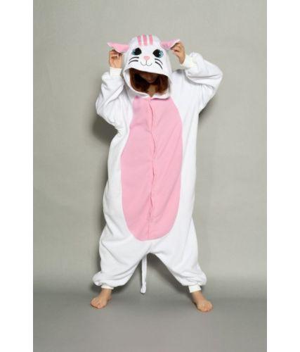 Pijama Kigurumi de Gatinho Rosa