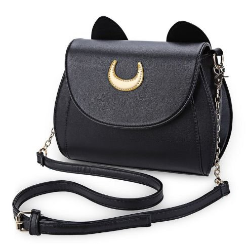 Bolsa de Couro Ecológico - Sailor Moon Luna - Duas Cores