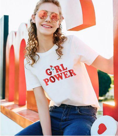 Camiseta GIRL POWER - Duas Cores