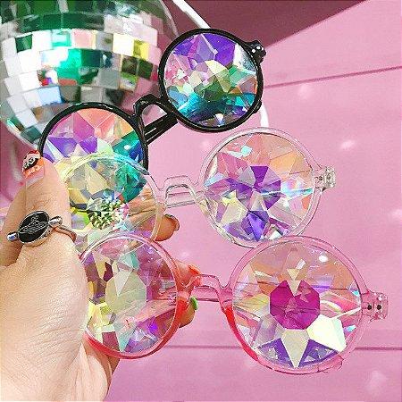 Óculos Kaleidoscópio - Três Cores